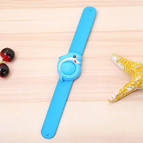 Imagen de pulsera repelente de mosquitos de emvanv, bonita muñequera infantil con dibujos animados, hecha de silicona, para uso en verano al aire libre, blue dolphin alternativa
