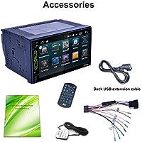 RK-A705 7 Pulgadas 1024 * 600 Pantalla táctil de Alta definición para Android 6.0 Reproductor GPS Incorporado Teléfono de Manos Libres Teléfono de Llamada Máquina de DVD