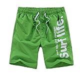 Hibote Shorts de Playa para Hombres - Verano Bermuda Pantalones Cortos elásticos de Bolsillo con cordón elástico Boardshorts de sólido Color Casual Pantalones Cortos de Secado rápido L-5XL