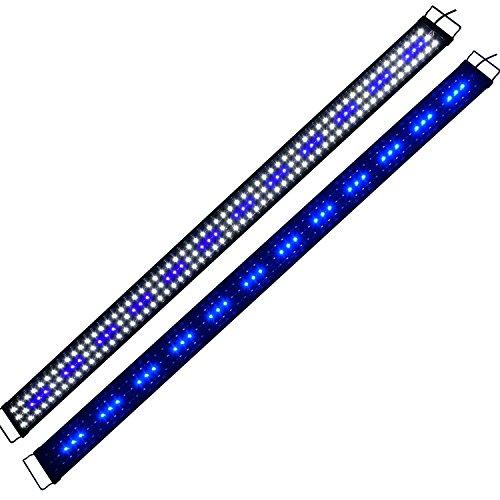 Lampe 180CM für Aquarium 180cm-210cm Rampe Aquarium LED weißes blaues Licht SMD 2 Modi Beleuchtung für Fischpflanzen Aquarian Eco A179