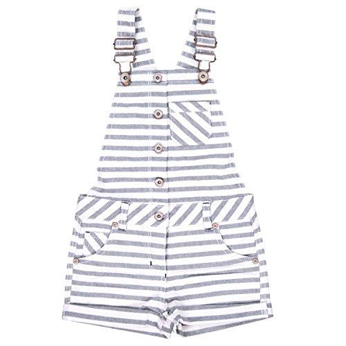 Bóboli Mädchen Latzhosen Denim Dungarees For Girl, Mehrfarbig (Stripes 9442), 128 (Herstellergröße: 8)