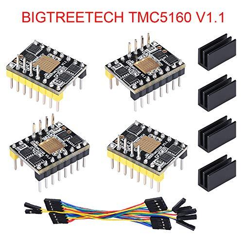 1 SPI Hochleistungs-Schrittmotortreiber Stepstick Mute-Treiber für 3D-Drucker-Steuerungsplatine (Packung mit 4 Stück) ()