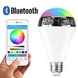 1byone B00DC-0740-0743 LED-Glühbirne mit Farbwechsel und Bluetooth-Lautsprecherfunktion, durch App steuerbar, mehrfarbig, E27, 3.0 wattsW
