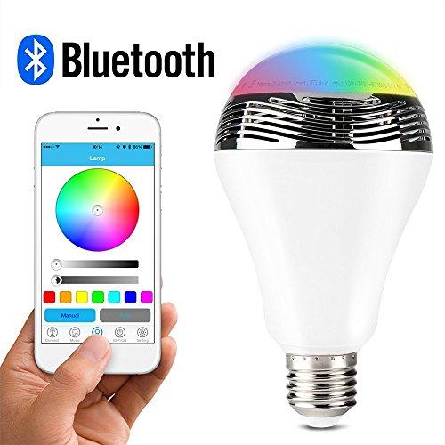1byone inalámbrica Bluetooth 4.0 Altavoz Bombilla de luz LED multicolor regulable Con...