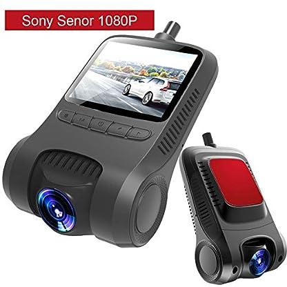 Auto-Kamera-Wifi-Full-HD-1080p-Objektiv-verstellbar-Weitwinkel-170-Grad-Dashcam-Auto-Fahrrad-Recorder-Display-20-Zoll-Aufnahme-in-LoopWDR-und-Nachtsicht-BewegungsmelderParkmonitor