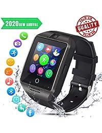 Smartwatch Bluetooth Hombre Reloj Inteligente con Whatsapp Smartwatches con Cámara Pantalla Táctil para Tarjeta SIM Smart Watch Telefono Sport Compatible para iOS y Android Xiaomi Samsung Huawei