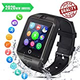 Montre Connectée Bluetooth Montre Connectées Homme Smartwatch Montre Intelligente Sport Fitness Tracker Podometre Carte Sim de Soutien Caméra Montre Téléphone Smart Watch pour Android Huawei iOS