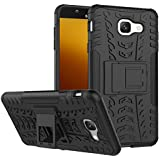 Shopping Monk® Dual Layer Protective KickStand Back Cover Case For Samsung Galaxy J7 Max - Black
