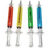 Outstanding® Efectos de escritorio de la pluma de bolígrafo de la forma de la jeringuilla de la novedad 4pcs / lot