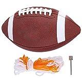 Mootea Football Americano, Pallone da Rugby in Pelle PU per Esterni Football Americano Allenamento Sportivo Intrattenimento Taglia 6 per Uso Interno o Esterno per Giovani Adulti