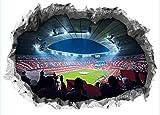FC BAYERN MÜNCHEN 3D-Wandtattoo mit Stadionmotiv Allianz Arena