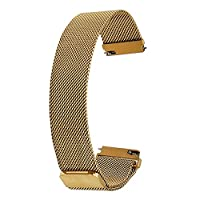 TRUMiRR 20mm Milanese Loop Watch Band, Magnetic Buckle Bracelet Strap Replacement Wrist Band for Samsung Gear S2 Classic SM-R732, DW (Daniel Wellington) 40mm
