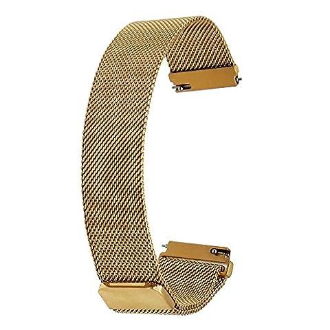TRUMiRR 20mm Milanese Loop Uhrenarmband Magnetisches Gürtelschnalle Armband für Samsung