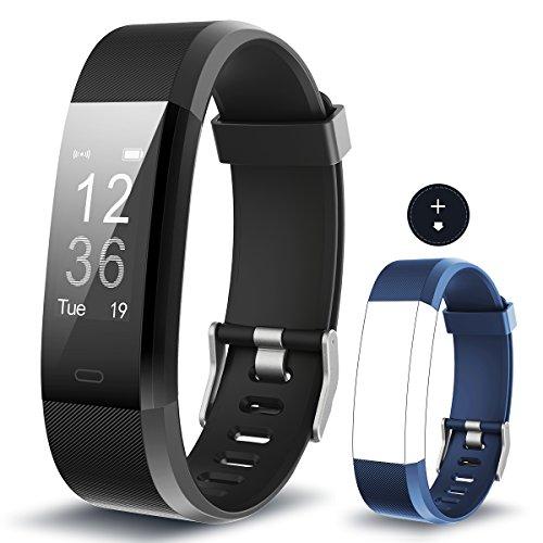 Yuanguo Fitness Armband mit Pulsmesser YG3 Plus Fitness Tracker Aktivitätstracker Wasserdicht IP67 Armbanduhr mit Kalorienzähler Schrittzähler Schlafmonitor Sportuhr für Damen Herrn Kinder