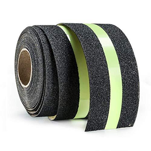 Premium-Qualität Antirutsch Klebeband,Glühendes Leuchtband Streifen Wasserdichtes Selbstklebendes Anti-Upturned Tape für Treppen/Schritte (5cm x 5m) -