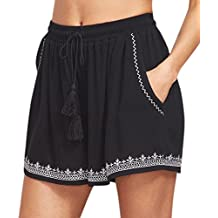 Été Unique Shorts décontractés Mode Plage Short Femme Short de Sport Casual  Yoga Fitness Elastique Short 60728eaf812
