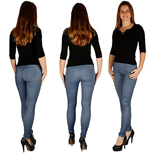 damen-treggings-jeggings-skinny-rohre-schwarzblue-jean-coffee-braun