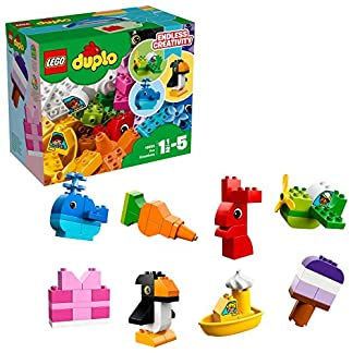 LEGO DUPLO – Mis Primeras Creaciones Divertidas, Juguete Preescolar Creativo de Construcción para Niños y Niñas de 1 Año y Medio a 5 Años con Piezas de Colores (10865)