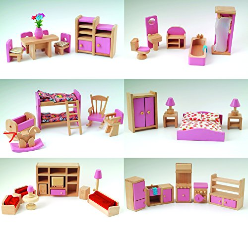 pink-wooden-dolls-house-furniture-6-room-set-4-dolls-age-3-ce-miniature-toy