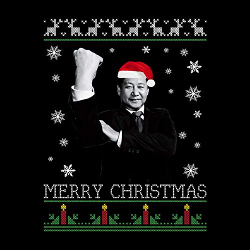 Xi Jinping Chinese President Merry Christmas Knit Men's Vest Black