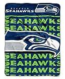 NFL Seattle Seahawks Micro Raschel Throw Blanket, 46 x 60-Inch