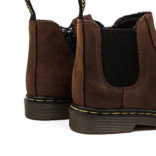 Dr Martens Banzai Junior Dark Brown Leather Chelsea Boots Braun