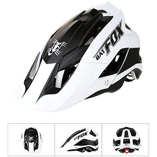 StageOnline Bicycle Helmets, BATFOX Bicycle Ciclismo Mountain & Road Casco de Bicicleta Protección de Seguridad para Adultos Ajustable y Transpirable