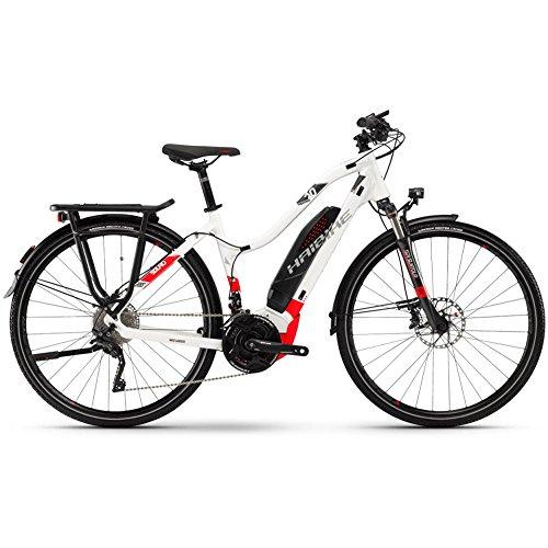 Haibike SDURO Trekking 6.0Bicicleta eléctrica 2018, color Weiß/Rot/Anthrazit Damen, tamaño RH 52, tamaño de rueda 28.00