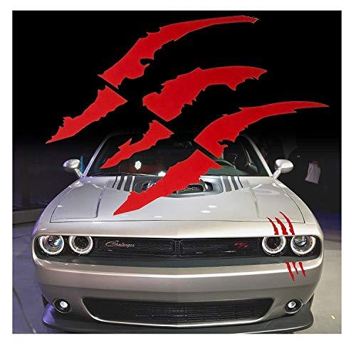 Xotic Tech 1x gestanzt Monster Krallen Kratz Scheinwerfer Aufkleber Vinyl Aufkleber Halloween Dekor Bloody Red