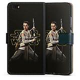 DeinDesign Huawei P8 lite (2015-2016) Tasche Leder Flip Case Hülle Star Wars Merchandise Fanartikel Rey