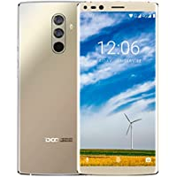 Smartphone Libre, DOOGEE MIX 2 Moviles Baratos 4G Dual SIM, Pantalla de 5.99 Pulgadas 18:9 FHD+, 6GB RAM 64 GB ROM, Helio P25 Octa Core Android 7.1, Cámara Trasera 16+13 MP, Huella Digital - Oro