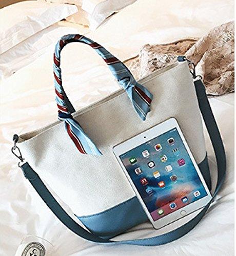 PDFGO Leinentasche Hit Farbe Weibliche Tasche Eimer Tasche Big Bag Mode Handtaschen Tasche C