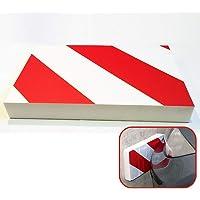 Sealplus Car Door Bumper Guard Protection Exterior Accessories Garage Wall Edge Corner Anti Scratch Foam Strip Parking Protector - Red/White
