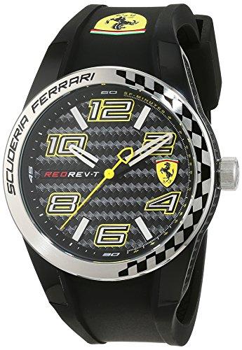 Scuderia Ferrari 0830337 Orologio da uomo al quarzo, con quadrante classico analogico e cinturino in silicone