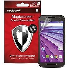 """MediaDevil Motorola Moto G 3rd Generation (2015, 5"""" Screen) Protector de Pantalla: Crystal Clear Transparente - (2 Protectores) - Magicscreen"""