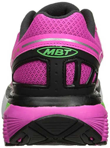 MBT Gt 16 W, Chaussures de Running Femme, Fuchsia, 37 EU Multicolore (Fuchsia / Lime / Noir)