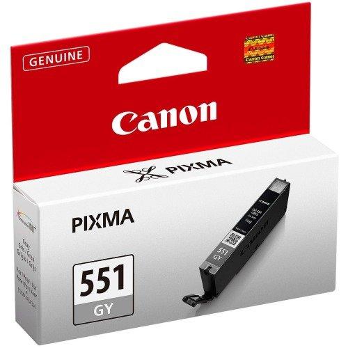 Canon CLI-551 GY original Tintenpatrone  Grau für Pixma Inkjet Drucker MG6350-MG7150-MG7550-iP8750