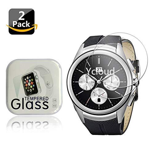 Ycloud [2 Stück Panzerglas Folie Schutzfolie Bildschirmschutzfolie für LG G Watch Urbane 2nd Edition Smartwatch mit Härtegrad 9H, 0,26mm Ultra-Dünn, Abger&ete Kanten
