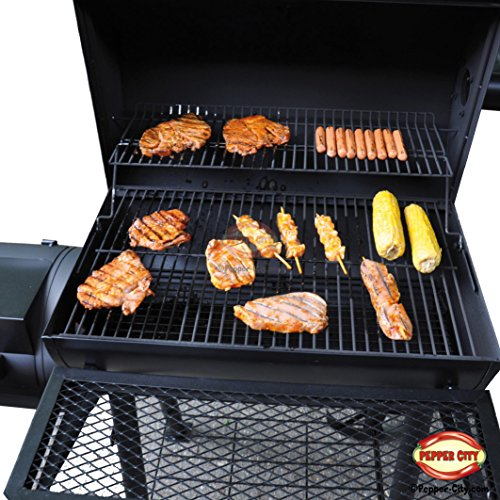 Nexos Trading Smoker Barbecue au charbon de bois Barbecue cheminée XL 32kg
