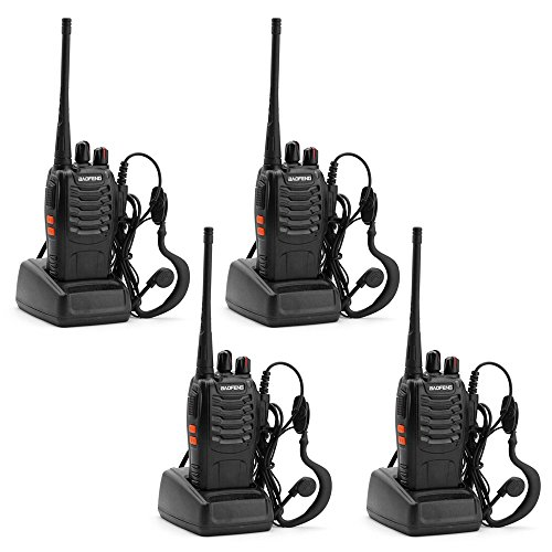 BAOFENG BF-888S Walkie Talkie with Built-in LED Torch -Pack of 4