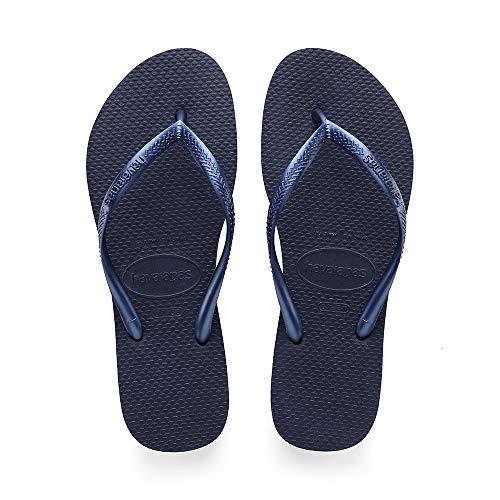 Havaianas Damen Slim Zehentrenner, Blau (Navy Blue), 39/40 EU (37/38 BR) - Havaianas Brasilien
