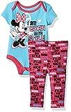 Disney Baby Girls Minnie Mouse Short Sleeve Bodysuit and Legging Set