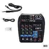 Alftek Mini USB Audio Mixer Verstärker Verstärker Bluetooth Board 48V Phantomspeisung 4 Kanäle für DJ-Karaoke