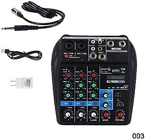 Bluetooth Mini Usb Audio Mixer Verstärker Board 48 V Phantomspeisung 4 Kanäle Audio Mixer Für Dj Karaoke 003 Musikinstrumente