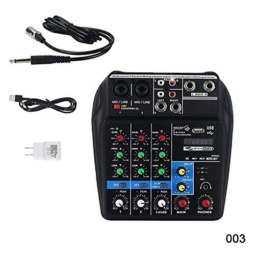 Bluetooth Mini USB Audio Mixer Verstärker Board 48 V Phantomspeisung 4 Kanäle Audio Mixer für DJ Karaoke (003)