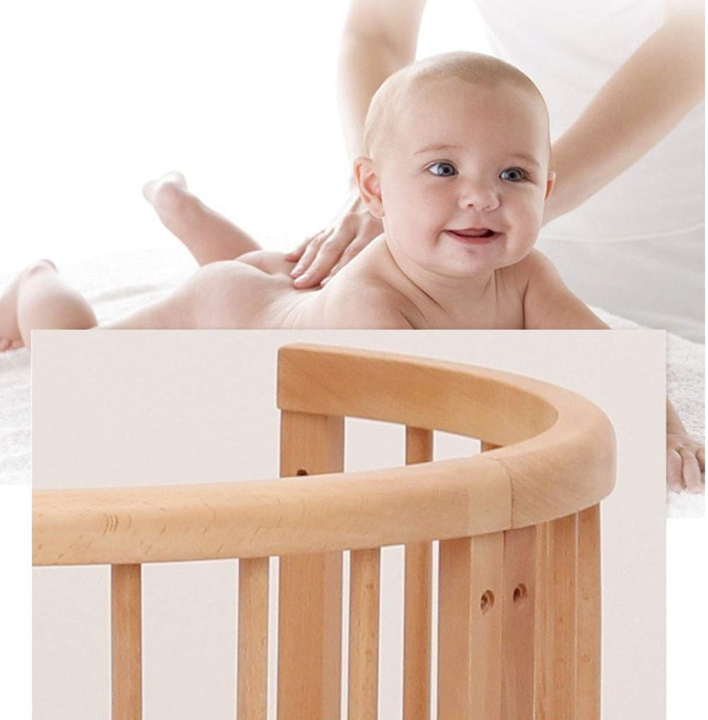 KLI 5 In 1 Multi Function Newborn Infant Crib Solid Harmless Paint Wood Baby Cradle Rocking Bed,125 * 73 * 76Cm KLI Shipping list : crib Size:125*73*76cm. Natural pine wood, harmless paint, polished and smooth, environmental wood, good for your baby 3 grade height adjustment: grade 1 (39cm from the floor)can be used for baby in 0-6 month, convenient to take out baby; grade 2 (26cm from the floor) for baby in 6-12 months and can stand independently;grade 3 (15cm from the floor) for baby in 1-3 years old. 4