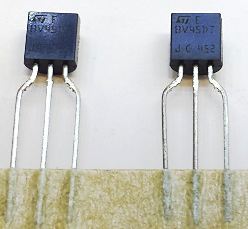 50 Stück STBV45DT-AP HIGH VOLTAGE FAST-SWITCHING NPN POWER TRANSISTOR | VCBO 700V | VCEO 400V | Ic 0,75A | Ptot 0,95W | TO-92 Gehäuse AMMOPACK -