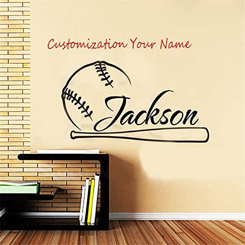 Haus Dekor New Art Name Design Baseball Wandtattoos Raumdekoration Sport Aufkleber Wandaufkleber Kinderzimmer Wandaufkleber Schlafzimmer