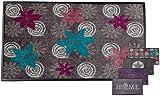 Carpet Diem Schmutzfangmatte Soft Flower 50x75cm Velour Schmutzfang Rahmen, Rückseite rutschhemmend, Türmatte ohne PVC Saugst