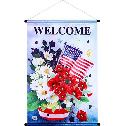 GTür Banner Haus Flagge Welcome Banner für Indoor/ Outdoor Dekoration Arten Flagge Party Parade 18,5 x 12,59 Zoll (Farbe 5) (Zurück Schule-tür-dekorationen Zu)